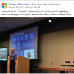Presenting at the Microsoft Global Women's Conference