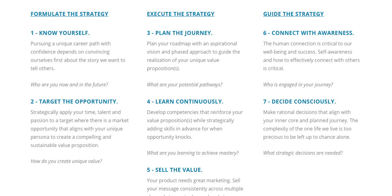 Updated Career Strategy Framework Content