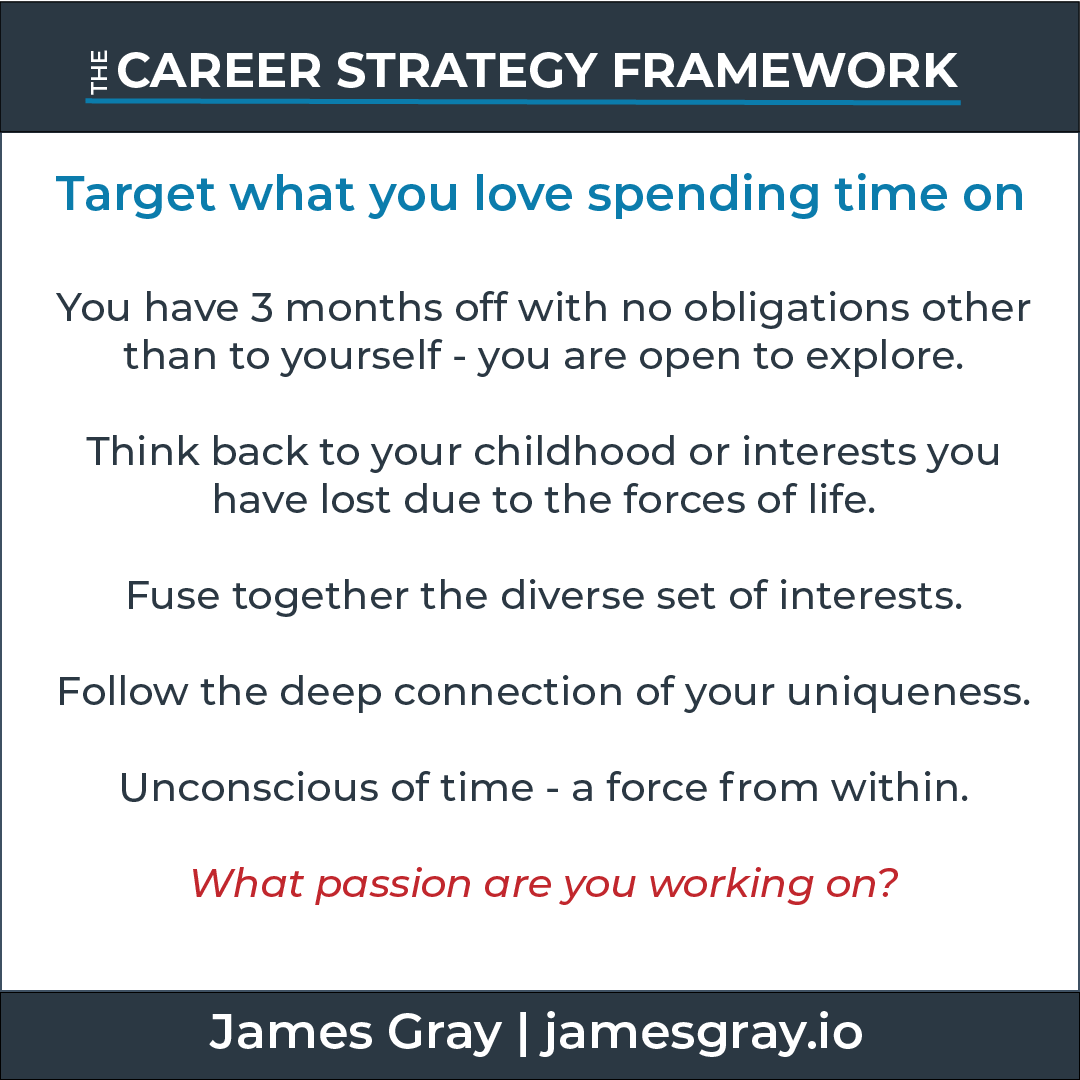 Card_target what you love spending time on